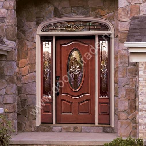 большие двери входные для частного дома
